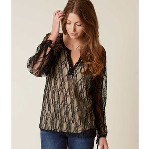 Gimmicks Womens Blouse Top Small Black A7-03P